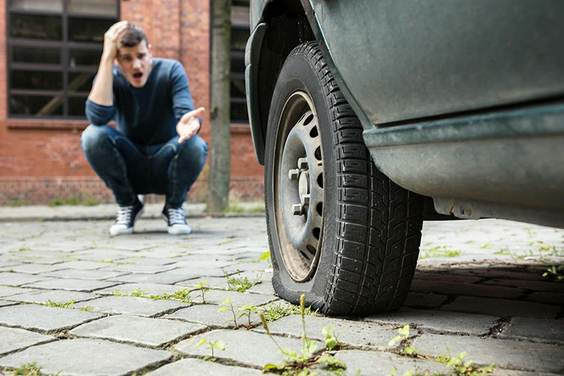 How far can you drive on a flat tire