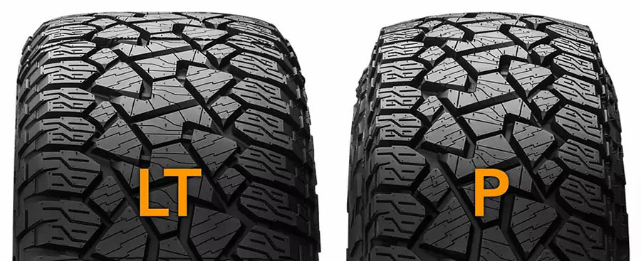 Differences Between LT Tires And P-Metric