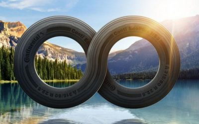 Continental manufactures tires from recycled plastic bottles